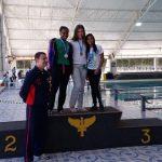 Bianca Pereira, 2° lugar 100 metros costas.
