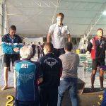 Matteo Dantas, campeão e recordista dos 50 metros livre.